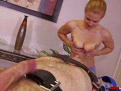 Sexy blonde babe cock punishment