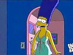 Simpsons Cartoon Sex : Homer neuken Marge