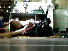 BANGLADESHI - BHABHI with Her DEVOR on Kitchen Floor