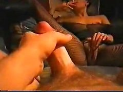 Bored pair experiencing some teasing foreplay