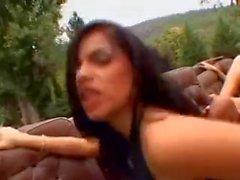 Daphnye And Coreena Outdoors Orgy