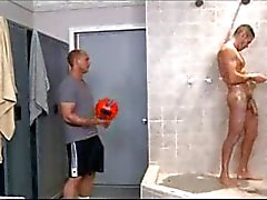 hot soccer studs in the shower