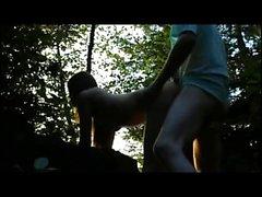 Amateur teen outdoor blowjob