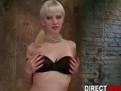 Hot Blonde Model Showing Huge Juicy Ass