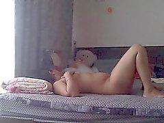 Gestor atractiva tía desnuda en un golpe por Casa Mms