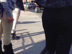 black leggin sweats and jeans