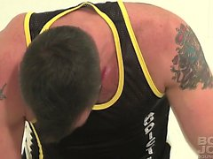 Spencer Reed gets blown by Morgan Black while tied and