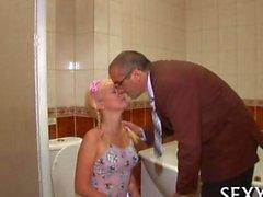 Delighting the teachers dick in the bathroom
