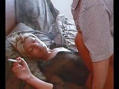 Sıcak Blonde Amatör Sigara Sex
