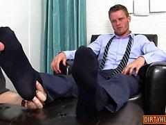 Muscolo piede gay con sborrata