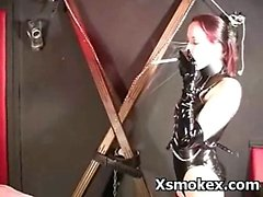 Cruel Teen In Seductive Smoking BDSM