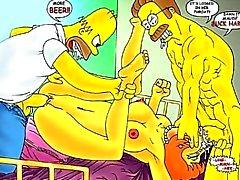 Симпсоны Hentai разгул