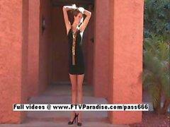 Veronica tender adorable woman posing