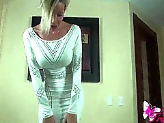 Korte witte jurk