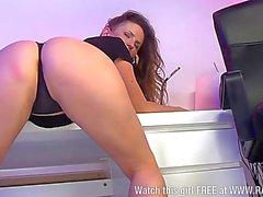 Smoking hot Victoria Roberts, sexy secretary1