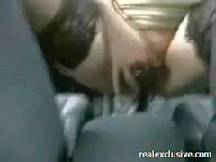 Anal Car Sex with gear and hubbies cock