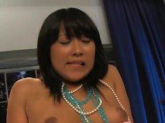 Yuki Mori enjoys a long pecker