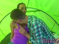 Teen amateur solo bathroom Eveline getting porked on camping site