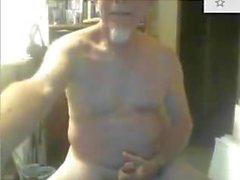 old 72 yo grandpa jerking off
