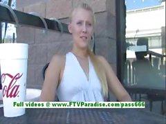 Liz amazing blonde teenage public flashing tits and pussy