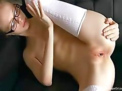 18yo skinny teacher masturbate naked
