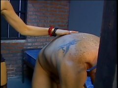 Dominatrix makes grown man her submissive