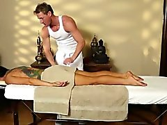 Busty Romi Rain strips off for massage