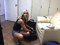 Sexy Blonde Wife Stripping