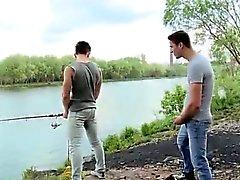 Kalu joka sojottaa lyhyet julkisen sektorin gay Kalastuksen For Ass Kun haluat