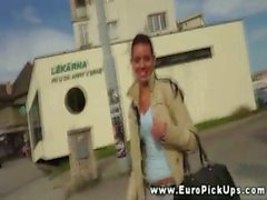 Euro teen getting picked up for some extra cash