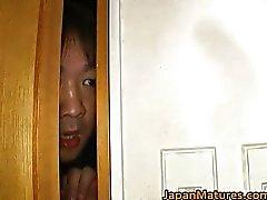 Japanese MILF enjoys masturbation