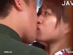 Hot Asian Couple Making Out