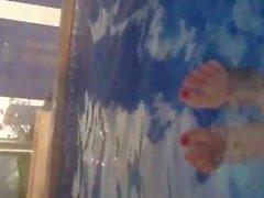 Ella jolie pool feet