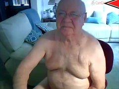 cum avô pela webcam