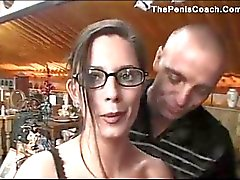 Sexy brunette housewife gets shagged at her w
