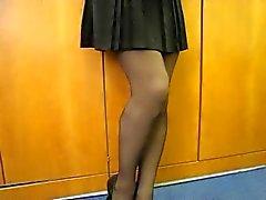 Panty tonen in de Office
