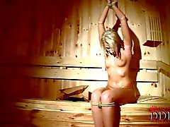 Viktoria Diamond naked and Tied up in the sauna