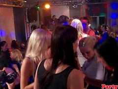 Real party euro brunette gets facial