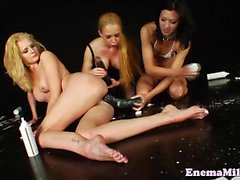 Enema milk squirters using whipped cream