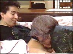 Dicke Frauen Oma mit grauen Haare Spaß mit 2. Männern