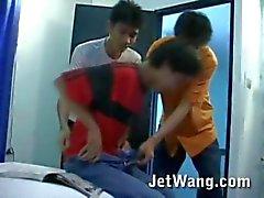 Twink asiática quente preso