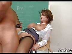 Horny cougar Deauxma gets her pussy thumped by a rock hard cock