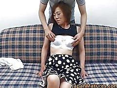 Rijpe nihonjin vrouw krijgt