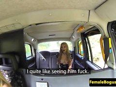 Lesbian UK taxi driver pussylicking outdoors