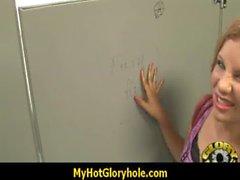 Interracial glory-hole dick licking 3