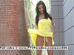 Alexa Loren from ftv babes busty brunette babe posing outdoor