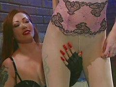 Smoking fetish lingerie bitches doing it