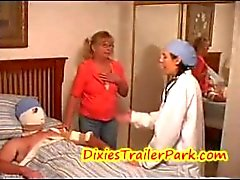Dr Hayden and the pissed off Mom!/She is a dick doctor and gets caught!