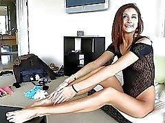 Jody Anal Sormitus kaunis ja hyvin pitkäsäärinen Teen