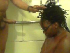 Ebony BBW pissen auf